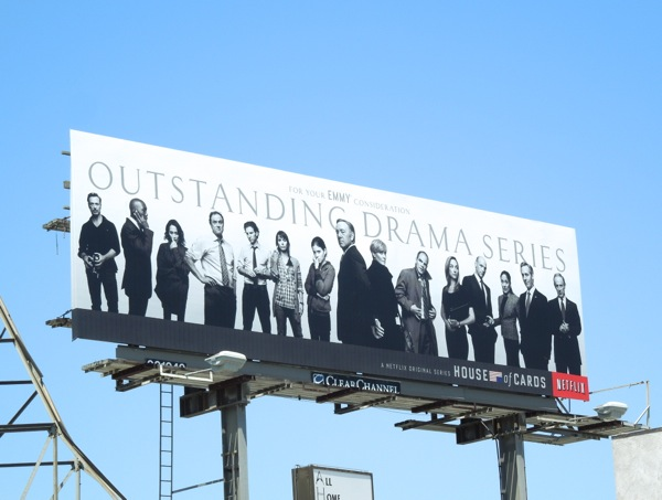 House of Cards season1 Emmy 2013 billboard