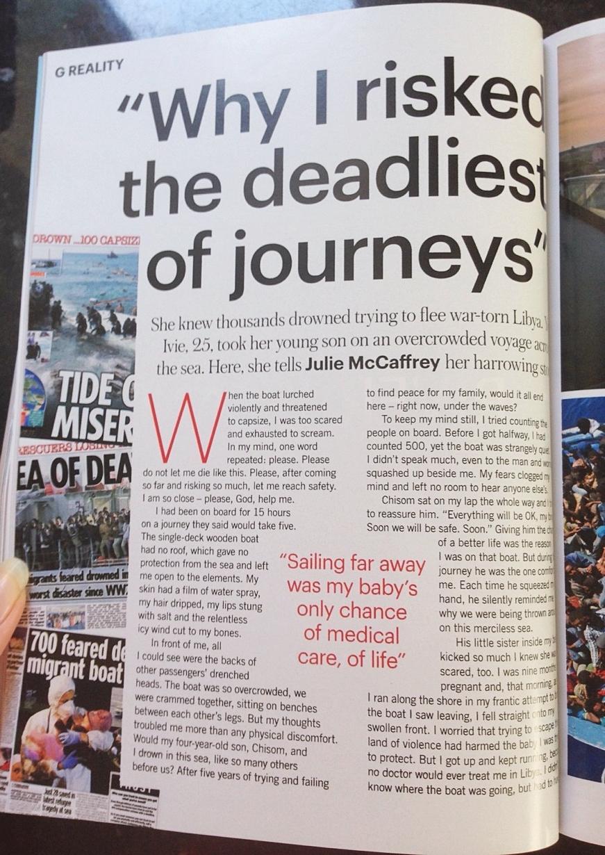 glamour magazine refugee story