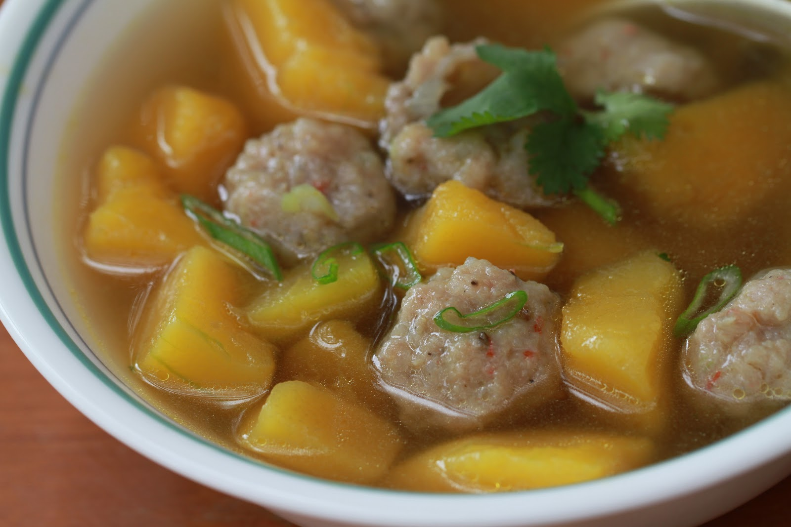 Soul Food: Delicata Squash Soup with Pork and Shrimp mini Meatball ...