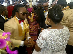 yemi sax white wedding
