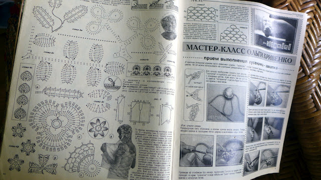 Crochet symbols in Irish crochet free patterns