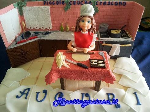 www.ricettegustose.it/Dolci_e_decorazioni_html/Torta_decorata_cucina_e_cuoca.html