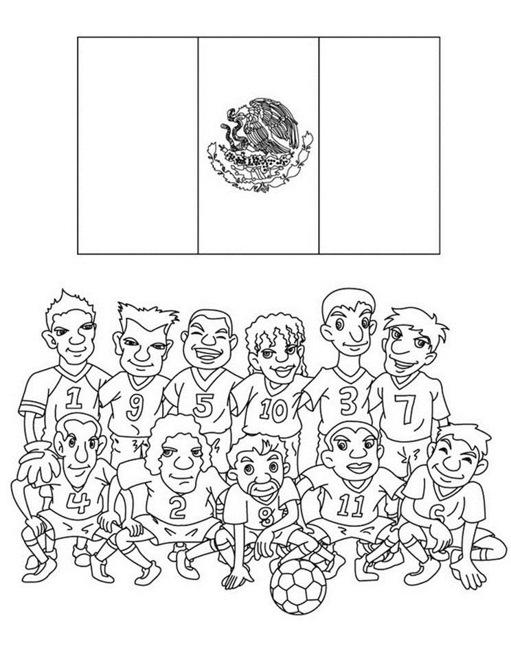 dibujo de la selección mexicana para colorear