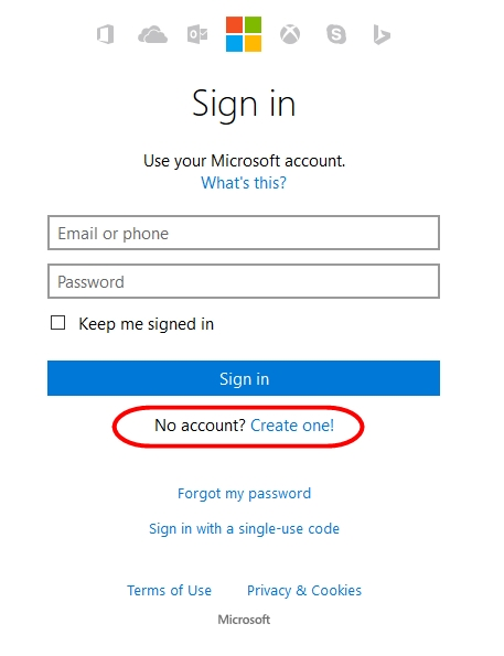 register-outlook-account-on-mobile