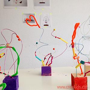 CreaKids: esculturas alambre