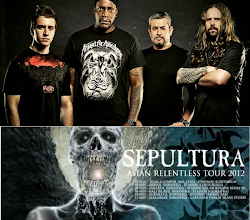 "Sepultura ""Asian Relentless Tour 2012"" Medan 3 November"
