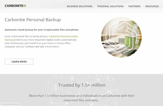 carbonite app backup photos files online free safely