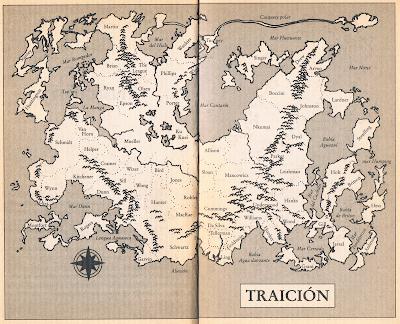 Mapa del Planeta de Traición (Orson Scott Card)