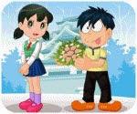 Nobita tỏ tình, game ban gai
