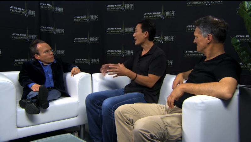 Doug Chiang and Iain McCaig talk with Warwick Davis