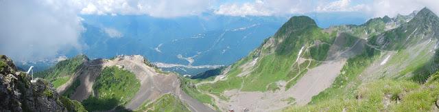 Панорама вершины Аибга-2
