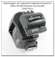 CP1115: RadioPopper JrX Attached to SU-800 (Side View)