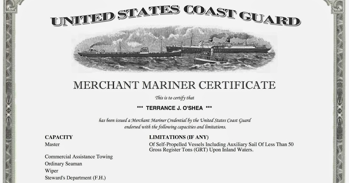 s/v carolmarie: u.s.c.g. captain's license (how long and what it took).