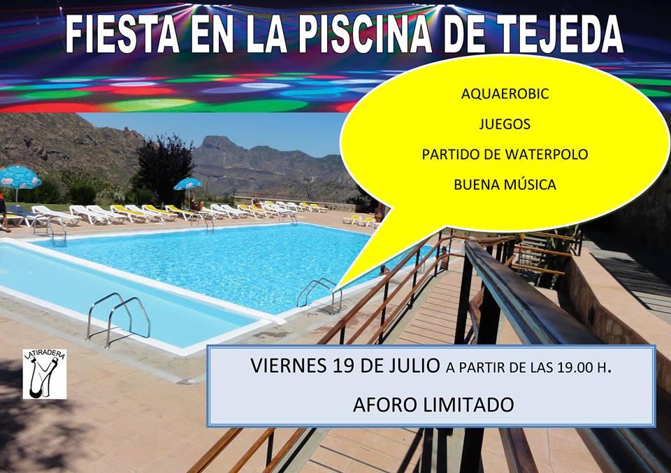 Este viernes fiesta en la piscina de tejeda for Piscina el guerra