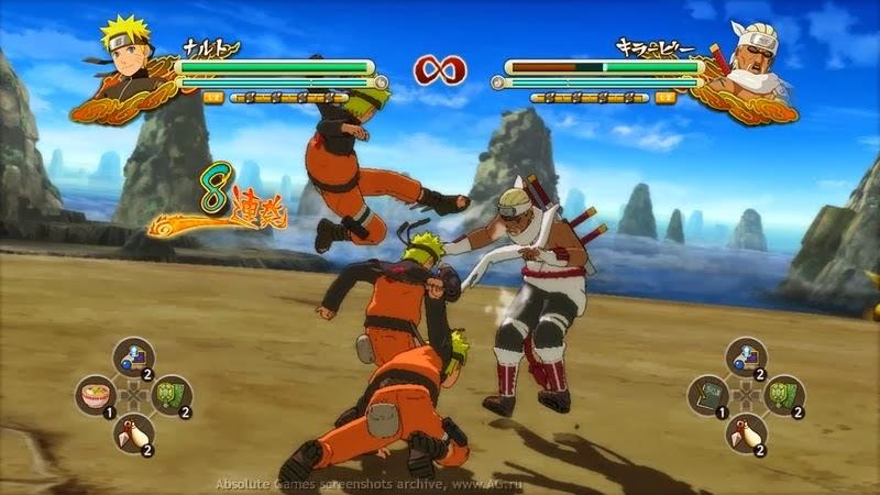 Videojuego naruto ninja lucha accion tecnicas
