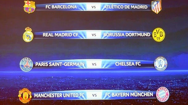 Calendario uefa champions league 2013 2014 sorteos y for Cuartos de final champions