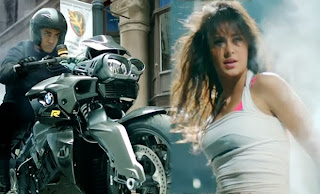 aamir khan and katrina kaif with dhoom bike photo