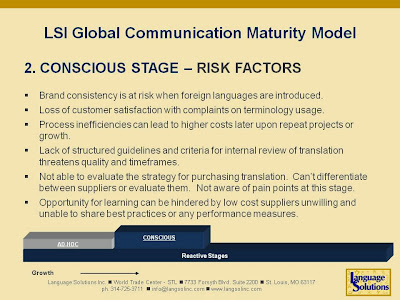 The Conscious Stage of Global Commmunication maturity model