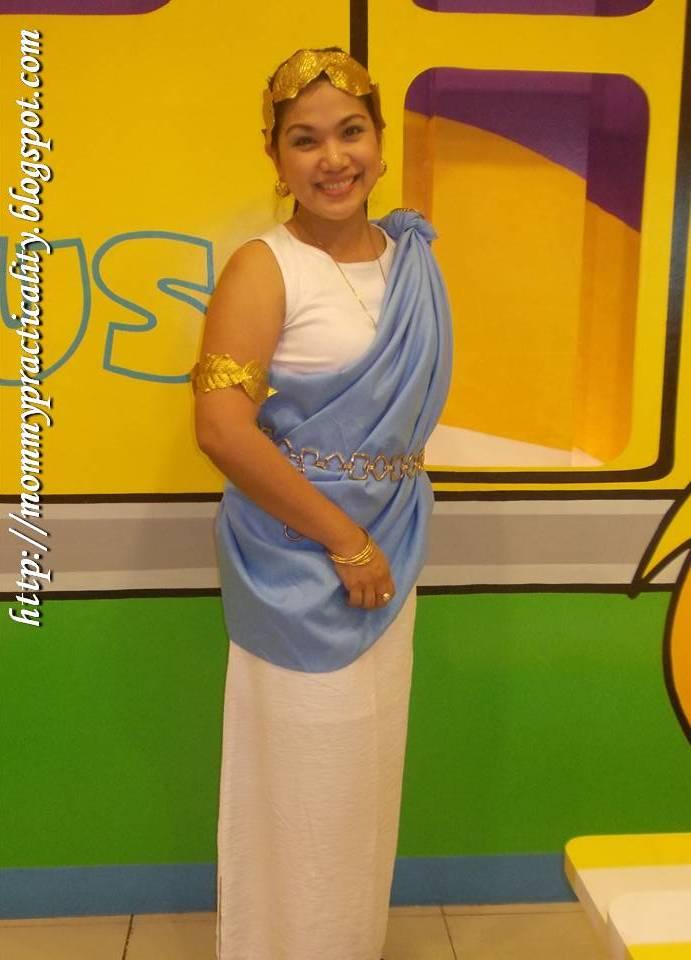 Diy greek goddess costume mommy practicality