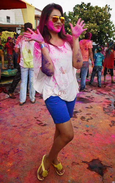 Madhu Shalini  Holi Celebrations Pictures 10.jpg