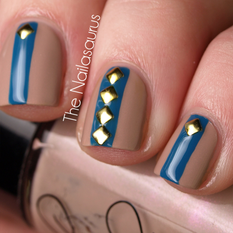 Square Stud Nail Art