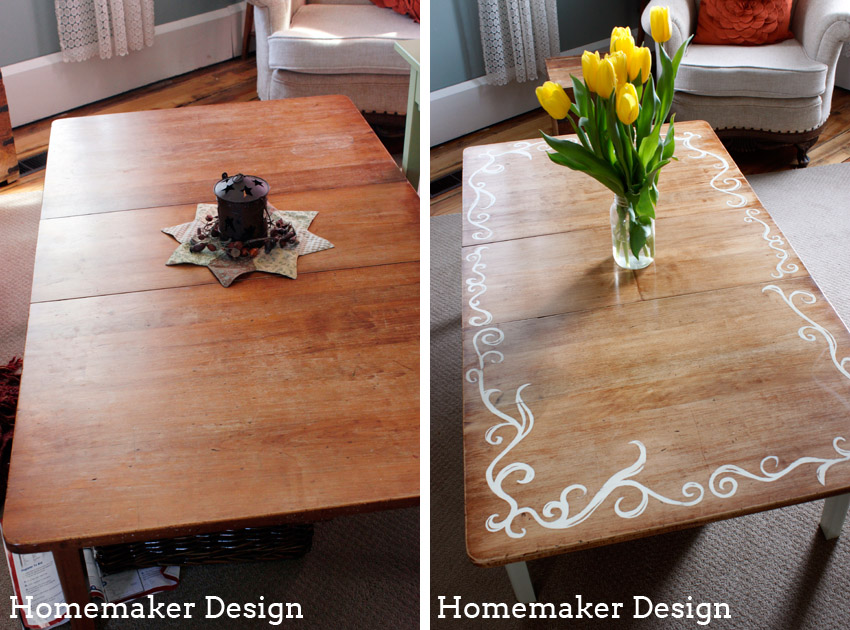 homemaker design diy refinished coffee table