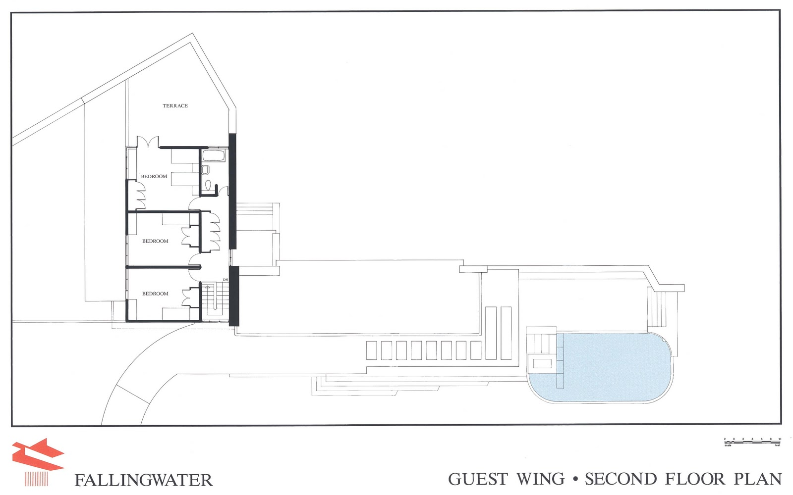 the gallery for gt fallingwater floor plan casestudy of falling water