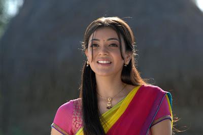 Kajal Agarwal Cute in Rose Half Saree Photos