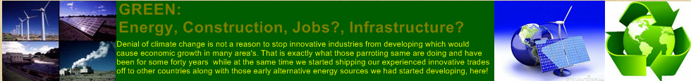 Green: Energy, Construction, Jobs?, Investment In?