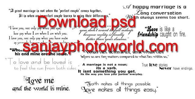 wedding psd text