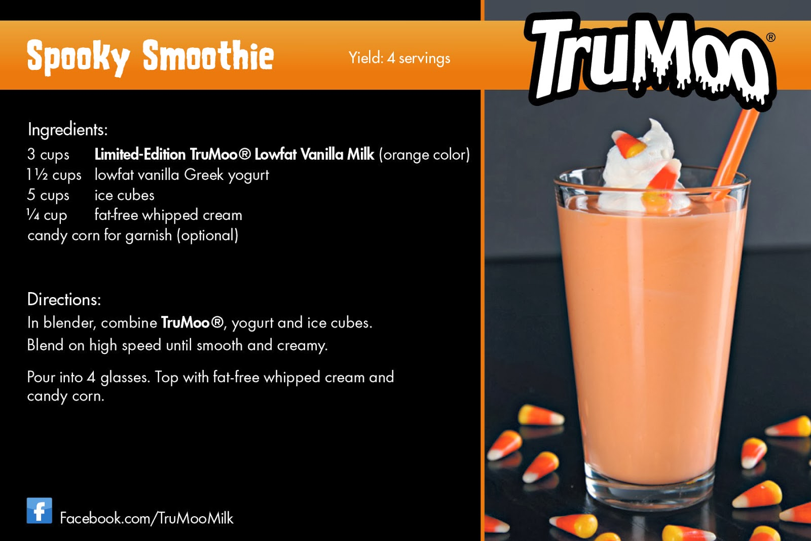 Spooky Smoothie Recipe Card