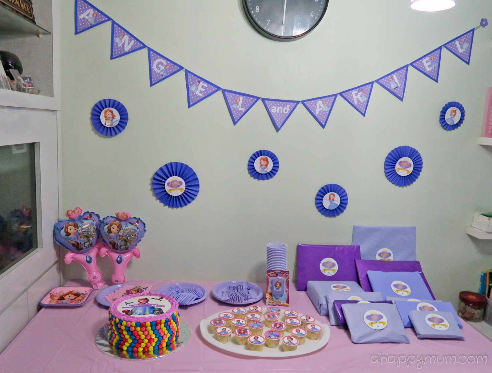 A happy mum singapore parenting blog - Princess party wall decorations ...