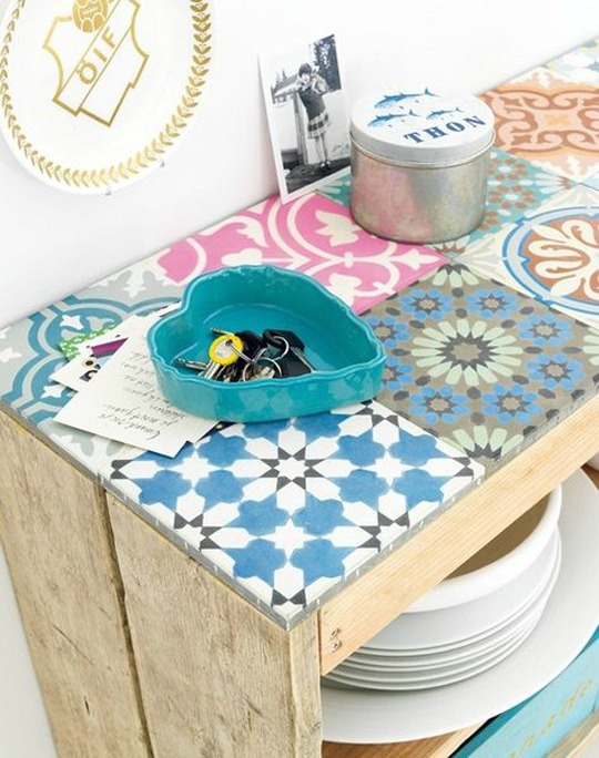 tiled table top diy