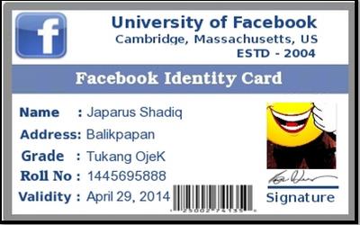 Cara Membuat ID Card Facebook