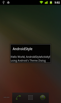 Using Android build-in theme of Theme.Dialog