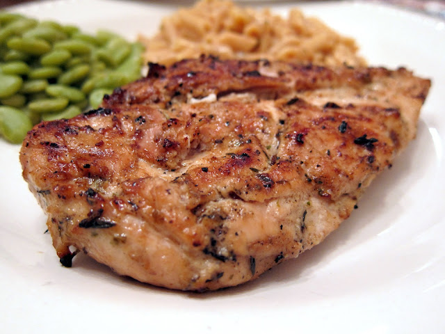 Rosemary Ranch Chicken - chicken marinated in Ranch dressing, olive oil and rosemary - grill up for THE BEST chicken you'll ever eat!
