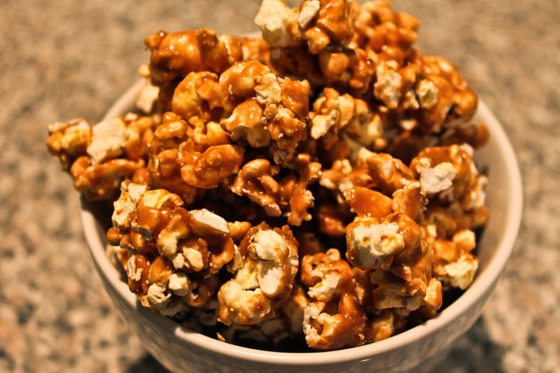 Delicious recipe, caramel popcorn, Delicious Food,