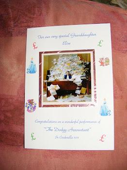 Elise's congrats card