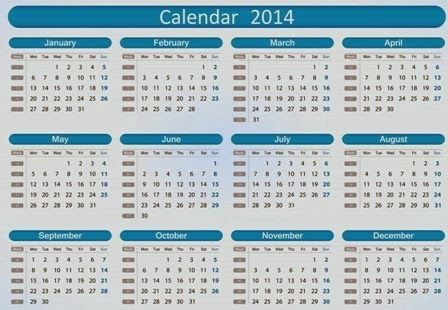 Read more on Calendar for year 2014 (united states) timeanddatecom .