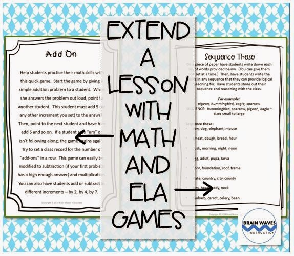 http://www.teacherspayteachers.com/Product/Fun-in-5-minutes-12-Fun-Engaging-Lesson-Extenders-FREE-1288551