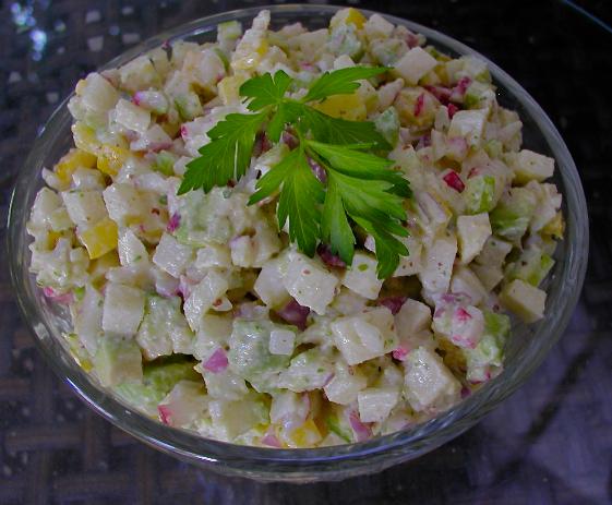 "Getting Raw: Jicama Salad or Mock ""Potato Salad"""