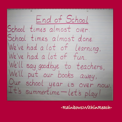 photo of: End of the Year Rhyme, Teacher Appreciation poem