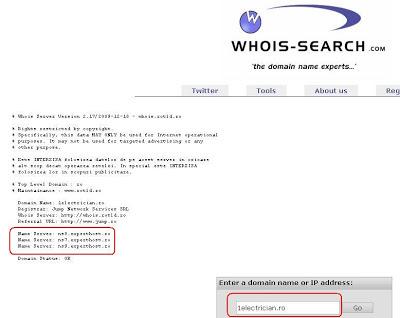 Name Server experthost.ro