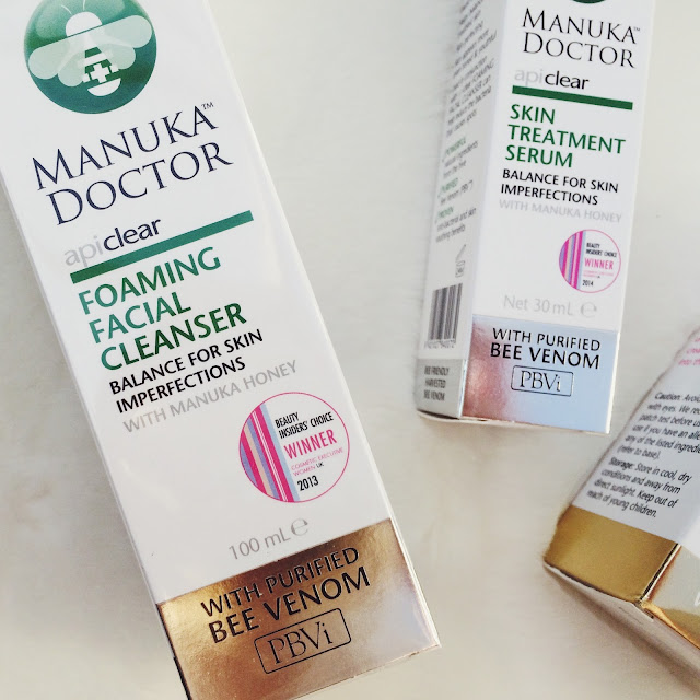 Manuka Doctor Foaming Facial Cleanser review, Manuka Doctor Apiclear Skin treatment Serum review, Manuka Doctor Brightening Facial Oil review