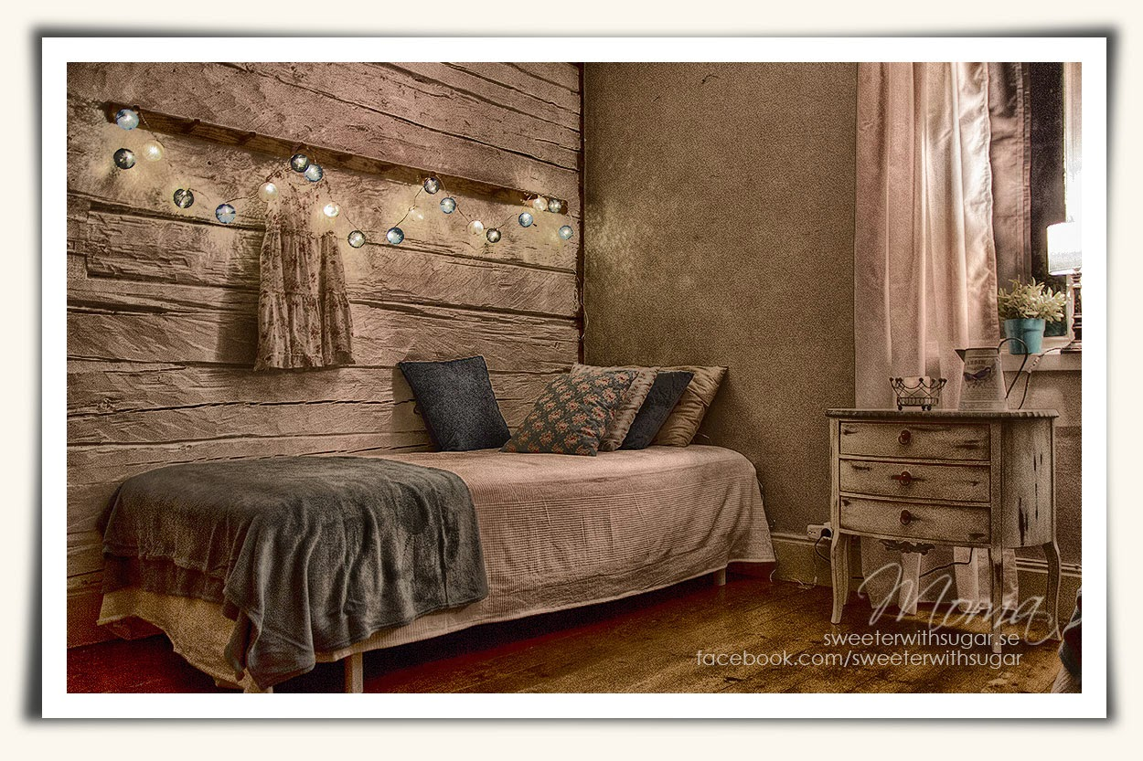 Vintage ljuskedja Rusta, annie sloan chalk paint, Nik software, Photoshop