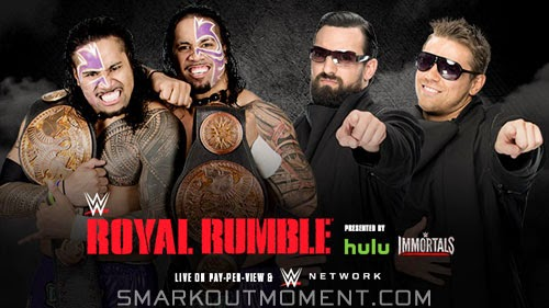 WWE Royal Rumble 2015 PPV Tag Titles match