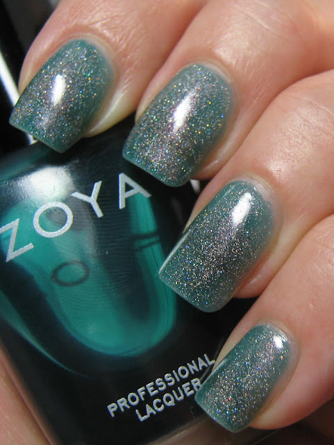 zoya frida essence holo topping, please! orly sparkling garbage dupe