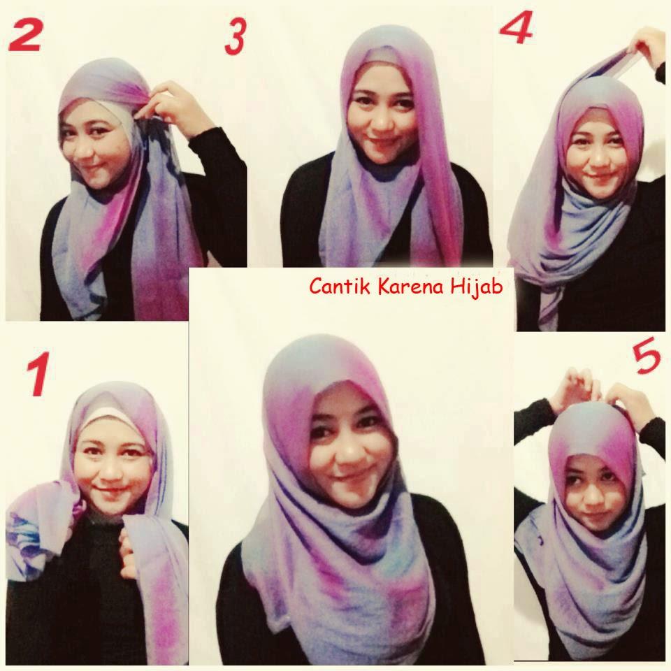 model jilbab pashmina untuk muka bulat dan cara memakainya
