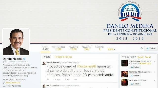 Cuenta de Twitter de la Presidencia RD entre las más activas del mundo