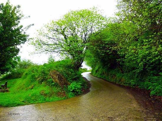 camino monte serantes un día de lluvia